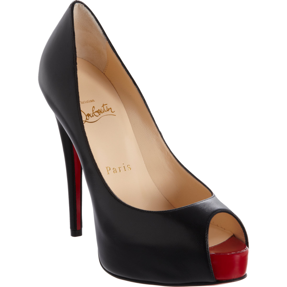 dfadef0e21 Christian Louboutin Vendome Peep Toe Pumps in Black - Lyst
