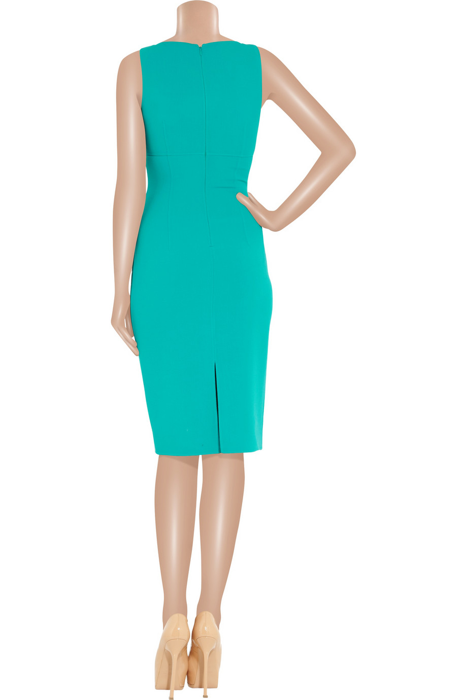 Lyst - Michael Kors Stretch Woolcrepe Dress in Blue
