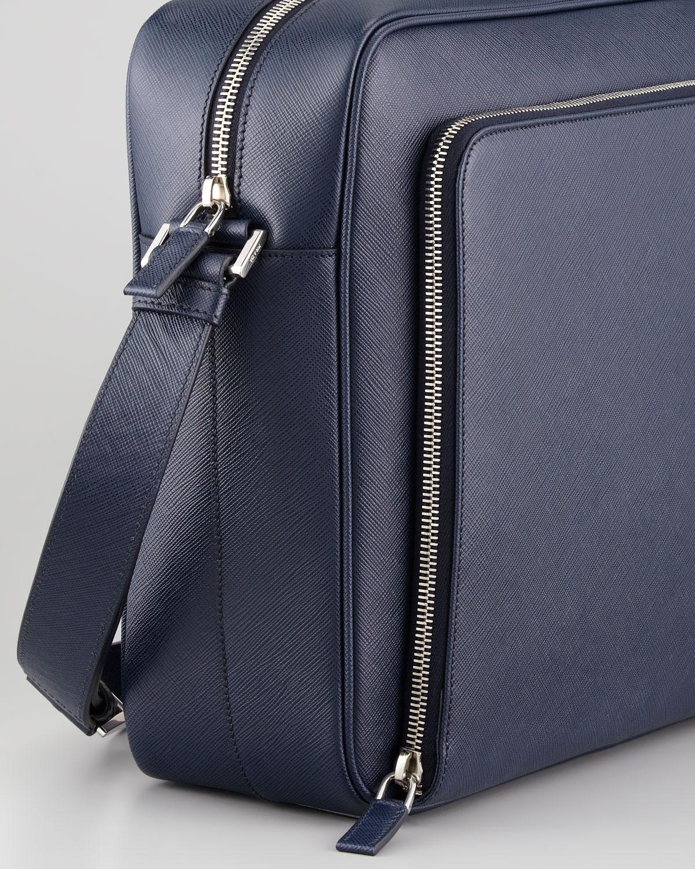 ... sweden lyst prada saffiano ipad messenger bag in blue for men f7f67  f109a 94b34e73abfb9