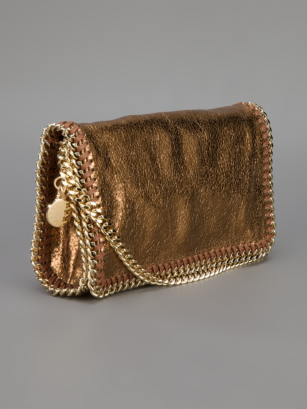 Stella McCartney Metallic Crackle Falabella Bag in Brown - Lyst bb764c3166a0c