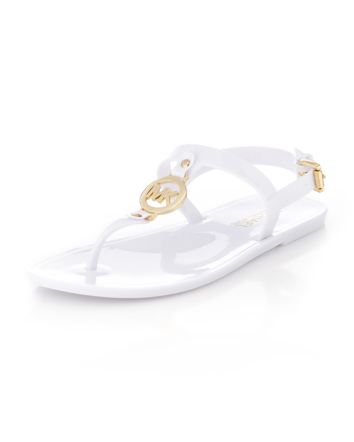 Lyst Michael Kors Sondra Jelly Thong Sandal In White