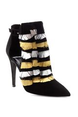 Pierre Hardy Bootie with Feather Detail