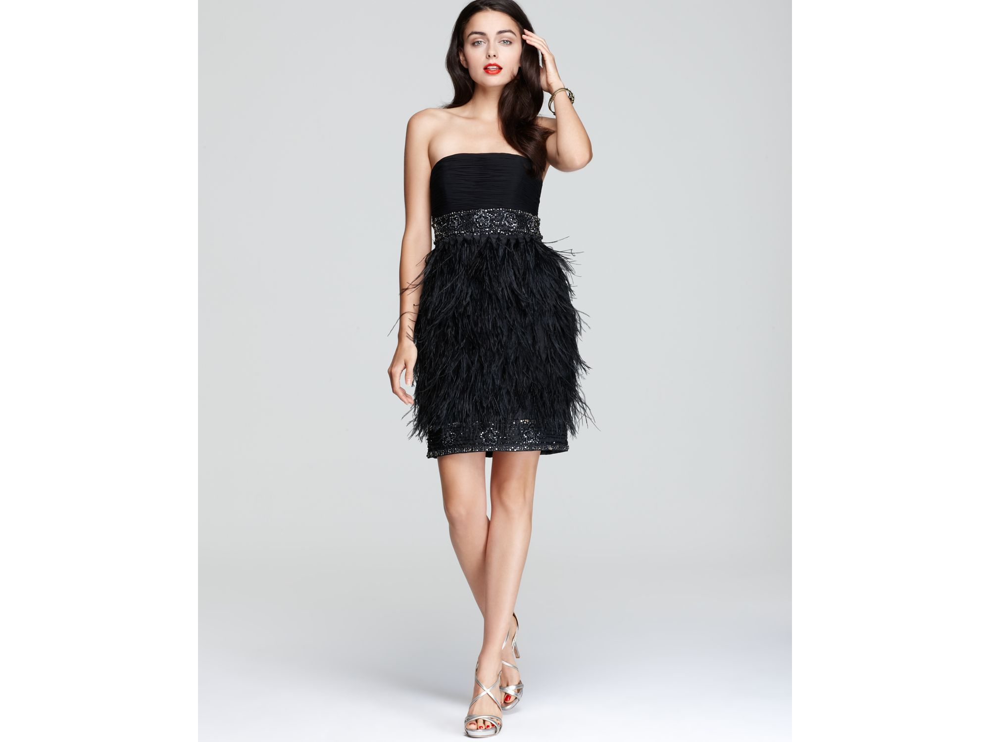 Strapless Feather Dress | Fashion Life