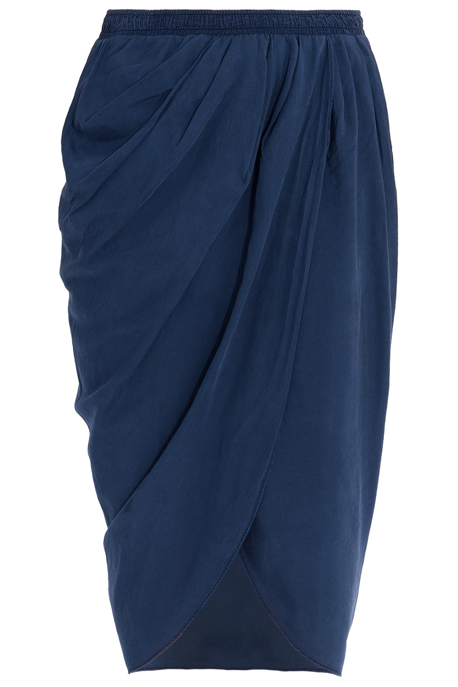 Lyst Clu Shirred Sarong Skirt In Blue