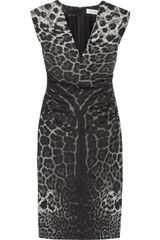 Yves Saint Laurent Leopardprint Silk Crepe De Chine Dress