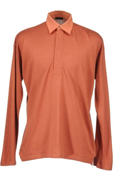 Cruciani Polo Sweaters In Pink For Men Salmon Pink Lyst