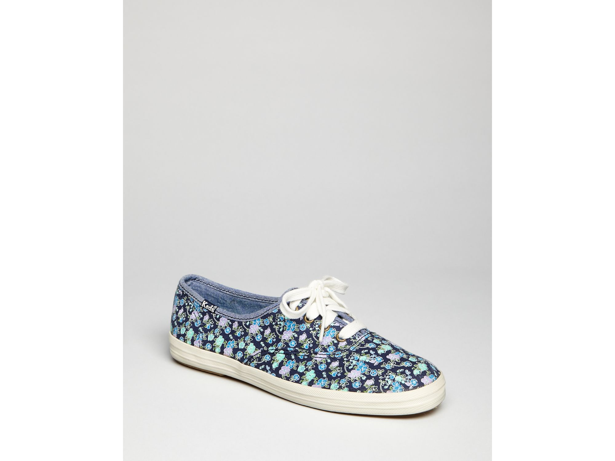 Keds Lace Up Sneakers Champion Floral in Blue (navy) | Lyst