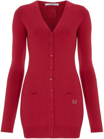 Liu Jo Long Sleeved V Neck Button Front Cardigan - Lyst