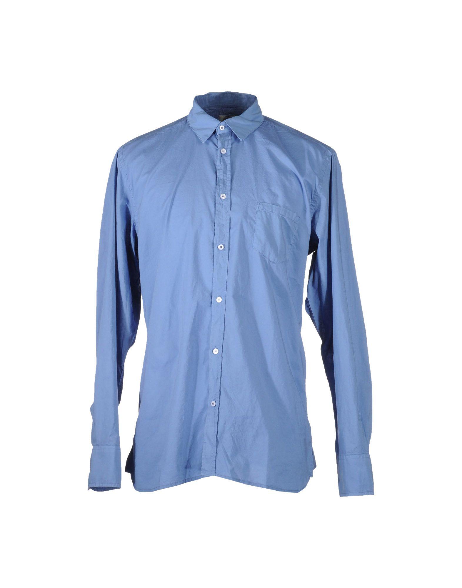 Mason 39 s long sleeve shirt in blue for men pastel blue for Mason s men s shirts