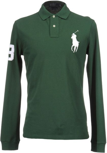 Polo Ralph Lauren Polo Shirts in Green for Men (dark green) | Lyst