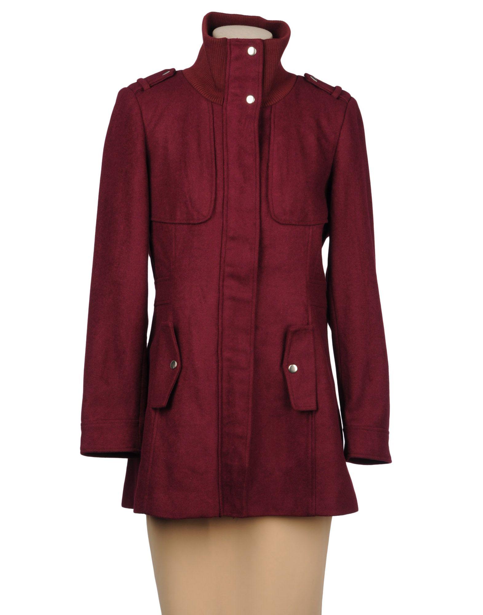 vero moda mid length jacket in purple garnet lyst. Black Bedroom Furniture Sets. Home Design Ideas