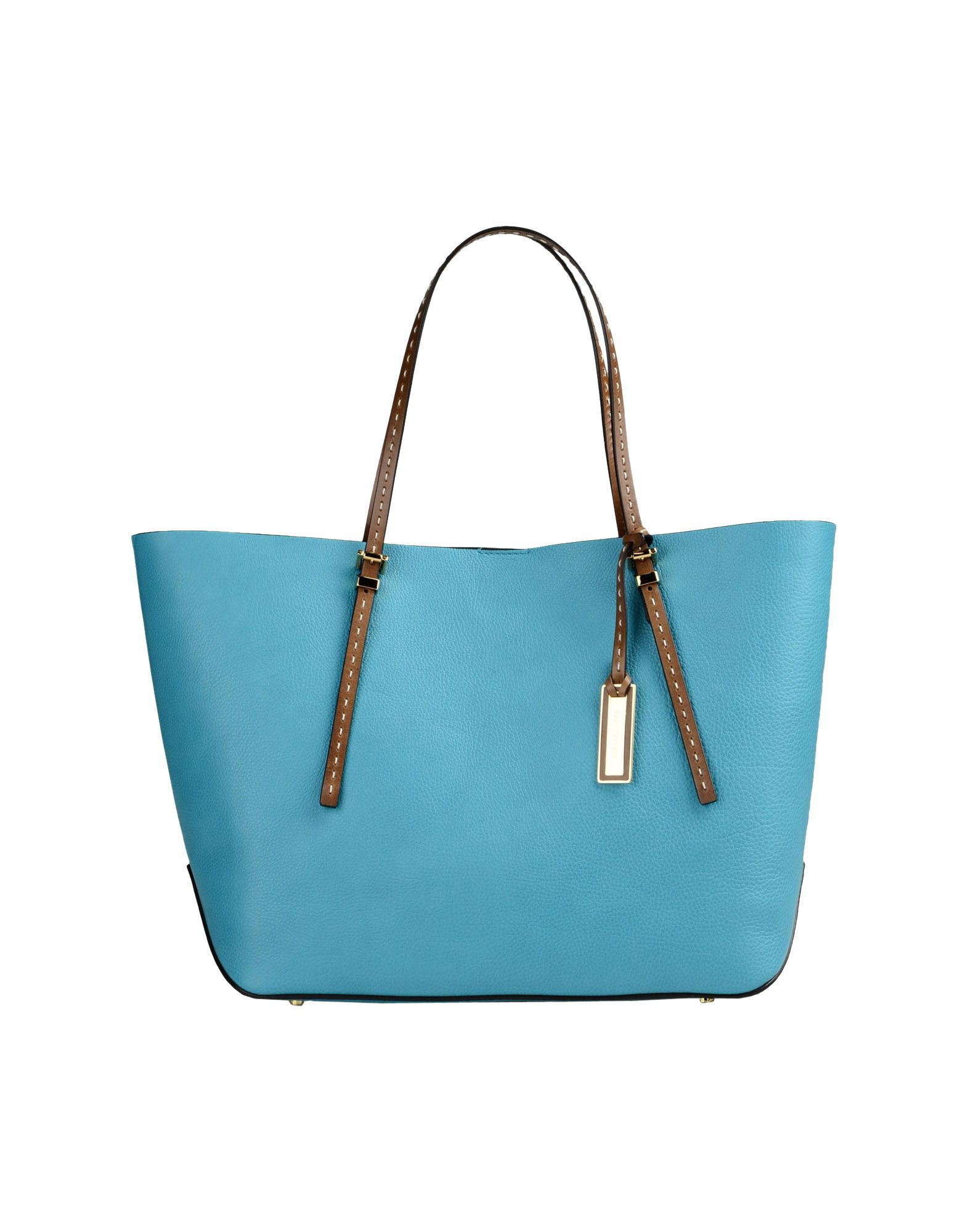 michael kors large leather bags in blue turquoise lyst