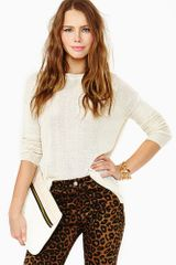 Nasty Gal Sweet Kiss Knit Ivory