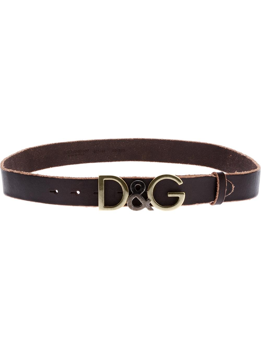 a1f1ac36 ... aliexpress dolce gabbana logo belt in brown for men lyst 43e70 03030