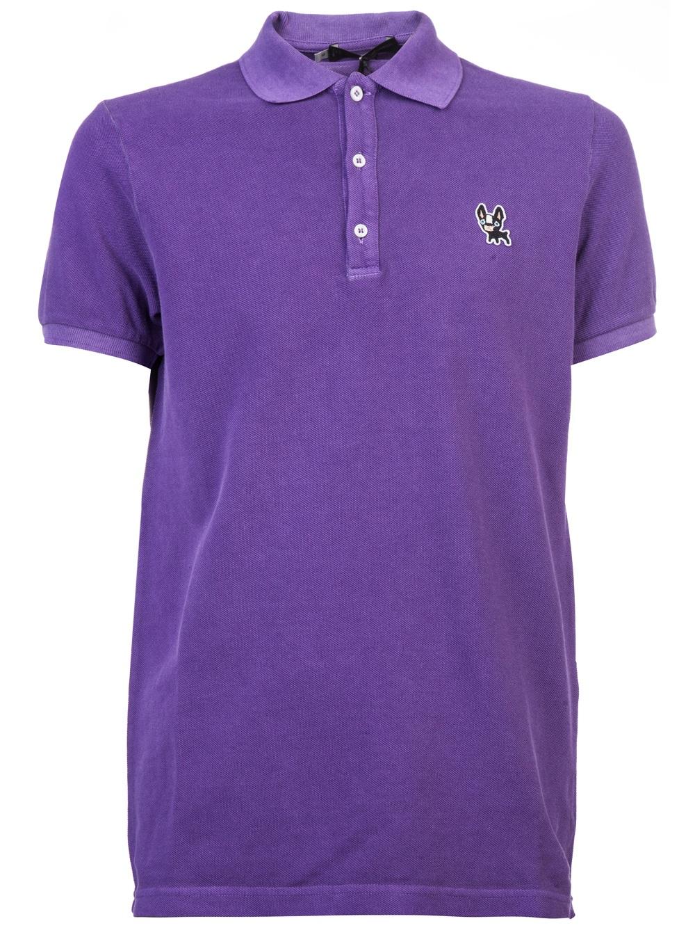 Lyst Dsquared 178 Bulldog Polo Shirt In Purple For Men