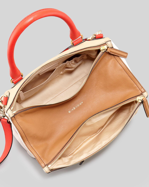 fb15200c63 Givenchy Pandora Medium Colorblock Satchel Bag in Red - Lyst