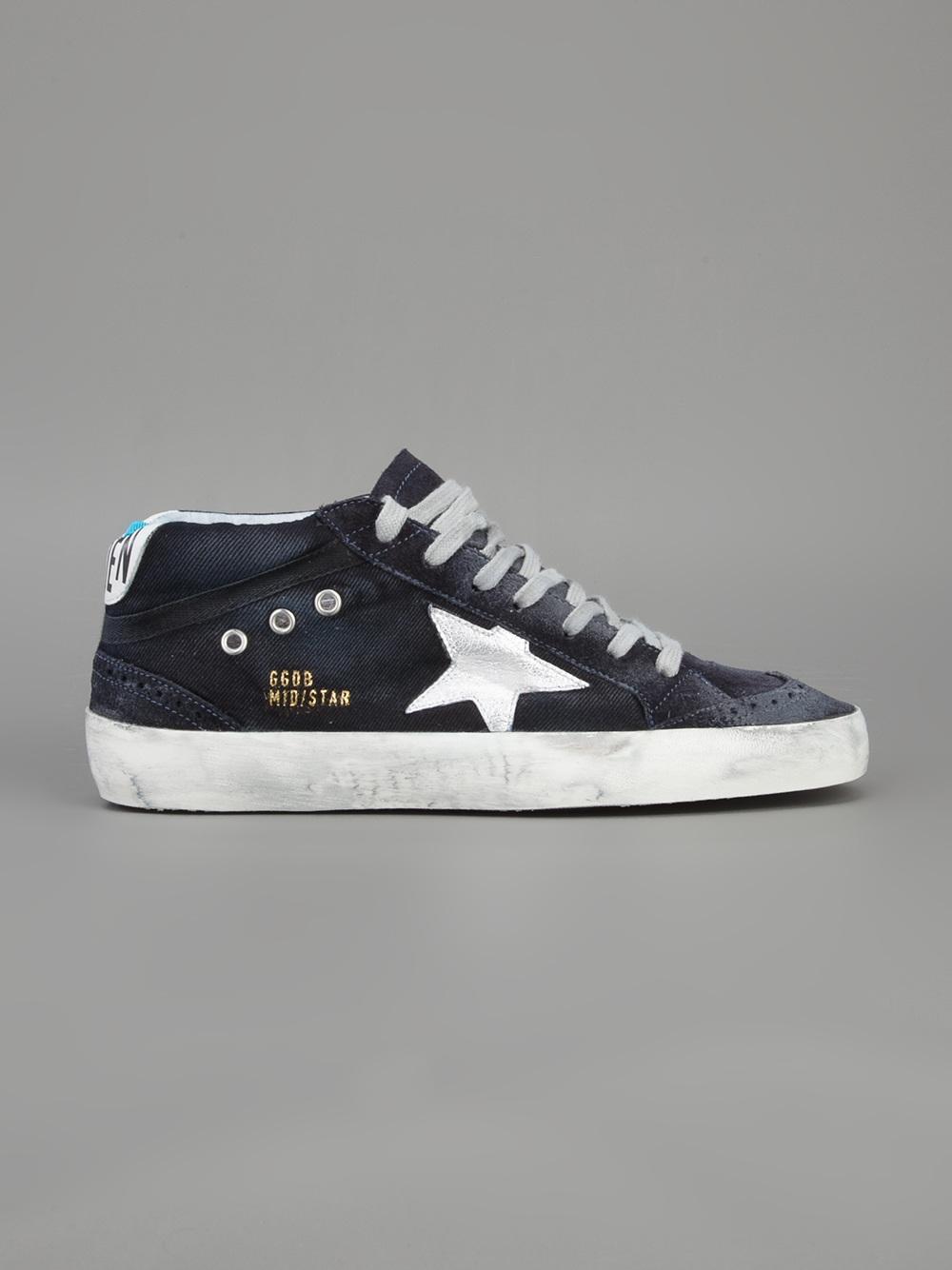 Oie D'or De Luxe Marque Chaussures De Sport Mi Étoiles nCEETv0