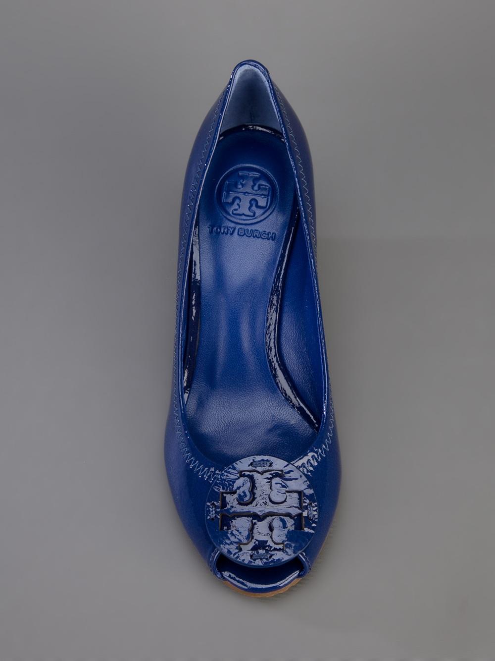 fc739c17743 Tory Burch Sally 2 Wedge Pump in Blue - Lyst