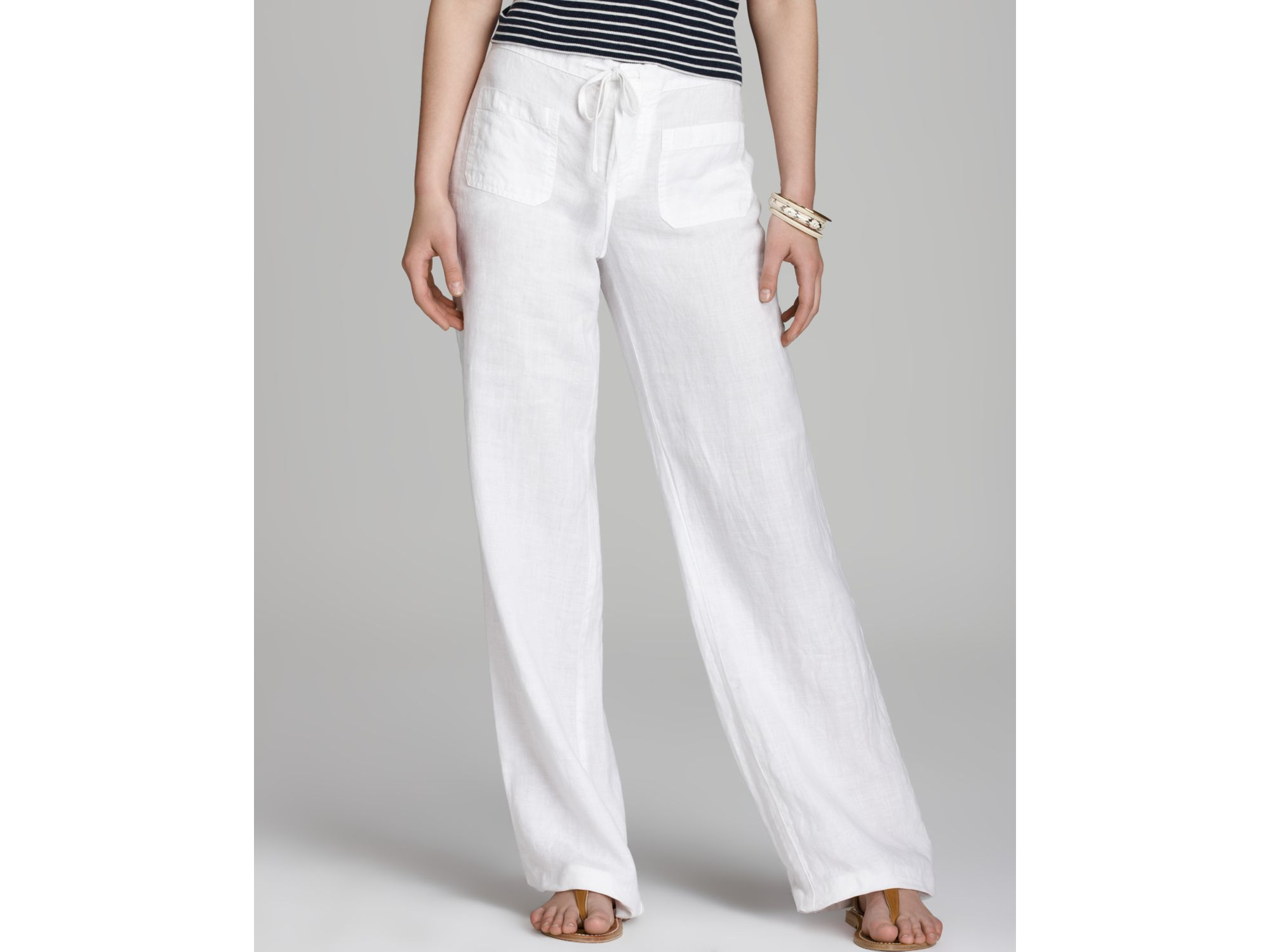beach white pants - Pi Pants