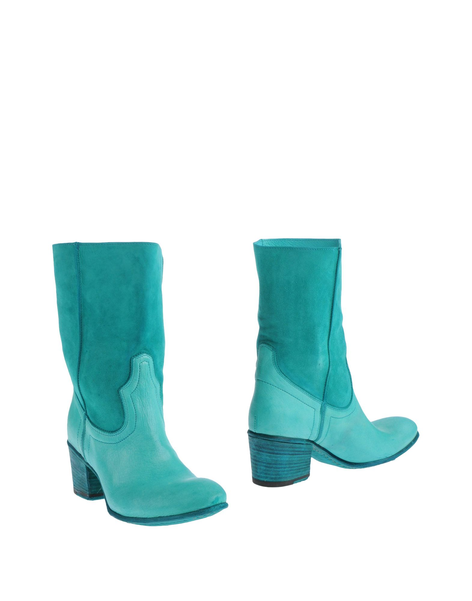 fauzian jeunesse ankle boots in teal turquoise lyst