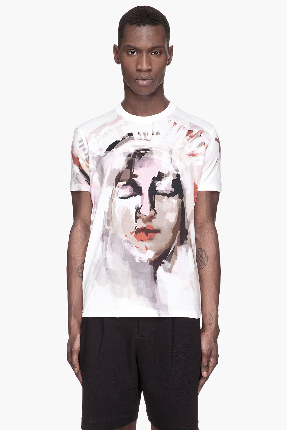 Lyst Givenchy Brushstroke Abstract Madonna T Shirt In