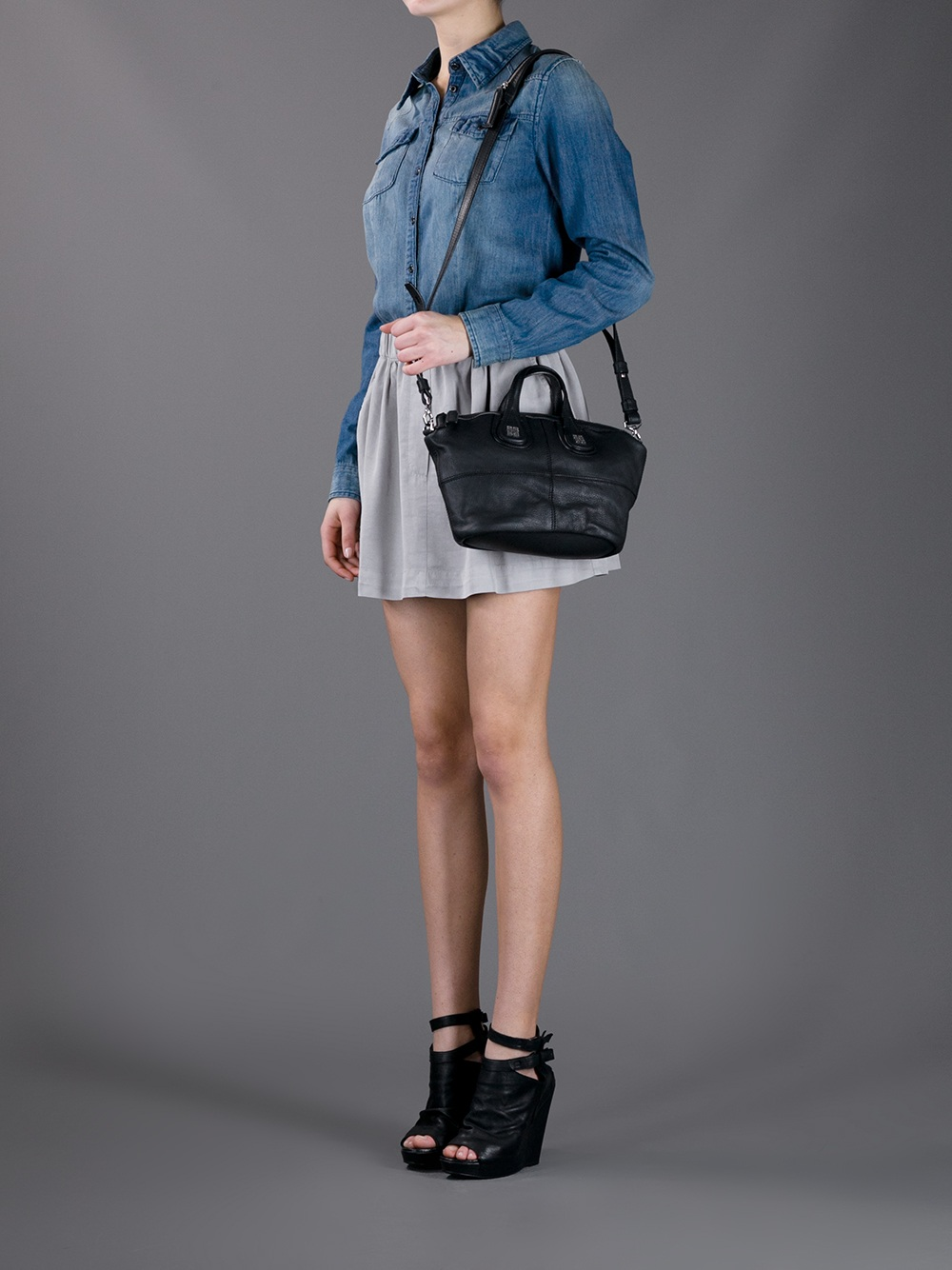 small Nightingale tote bag - Black Givenchy H947wwjD