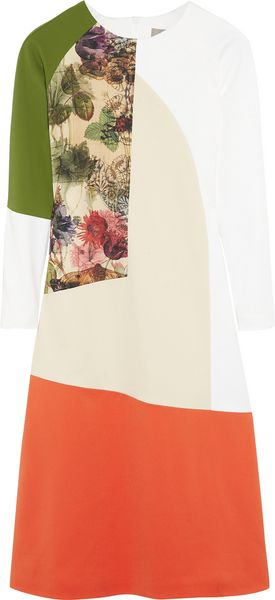 Preen Rose Colorblock Cottonblend Dress - Lyst