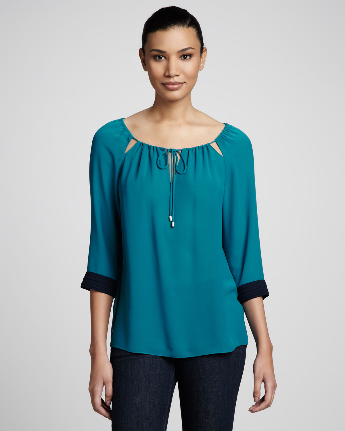 Womens Teal Blouse