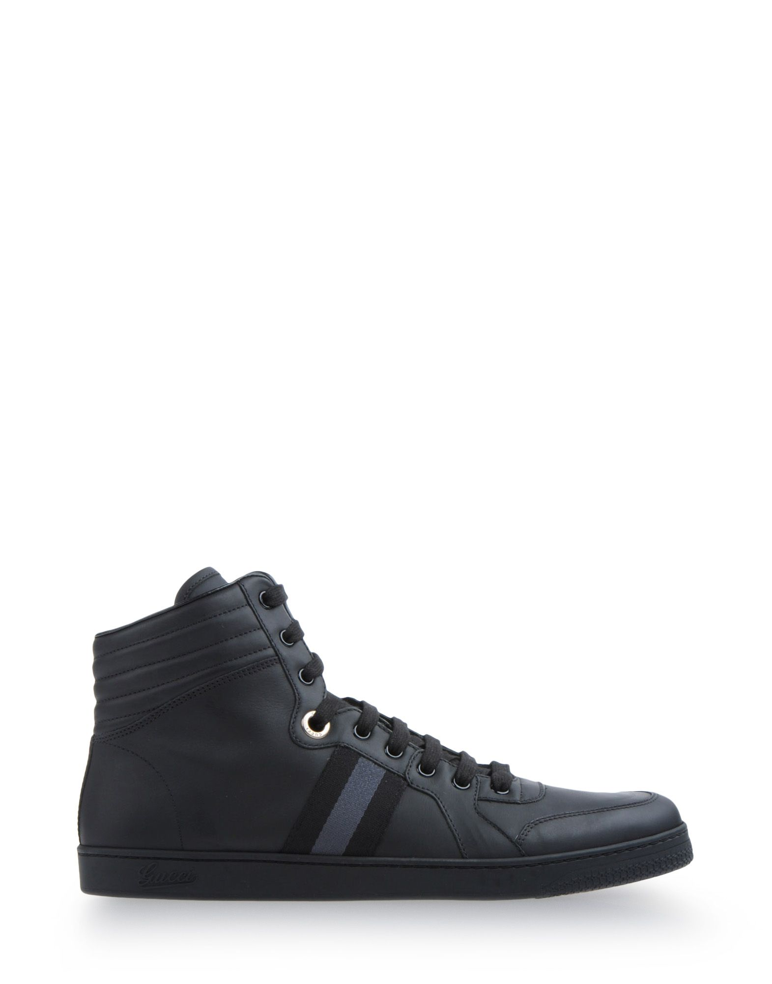 gucci high top sneakers in black for men lyst. Black Bedroom Furniture Sets. Home Design Ideas