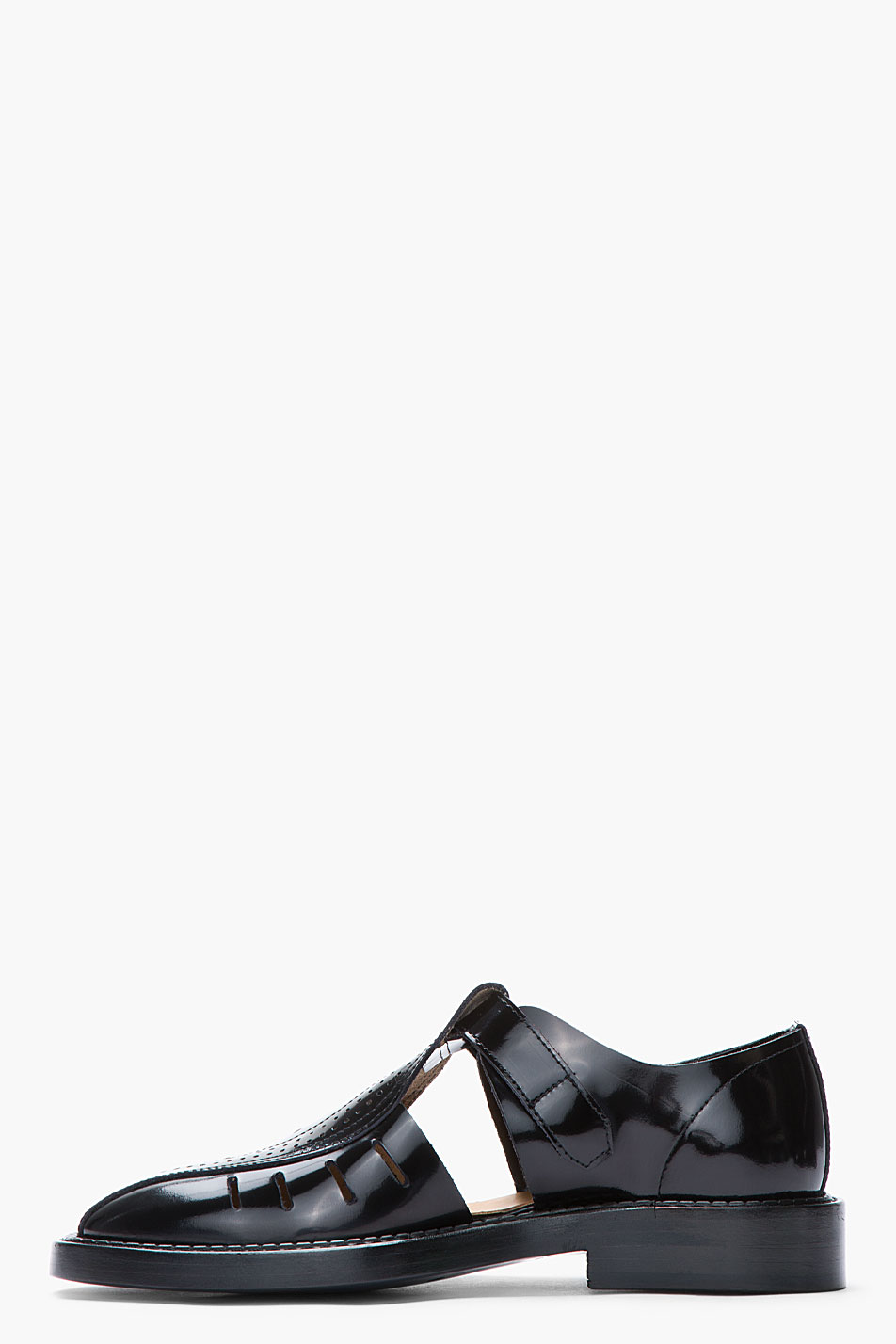 Leather Cut Out Shoe Loafer
