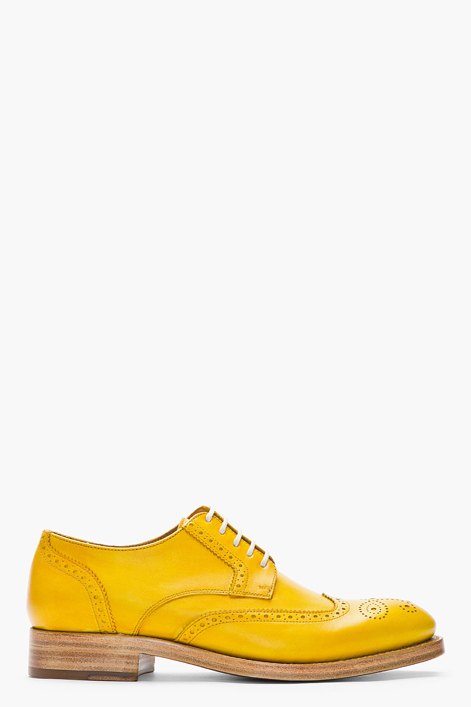 Lyst Kenzo Mustard Yellow Leather Elliott Wingtip