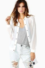 Nasty Gal Point Of View Bomber Jacket
