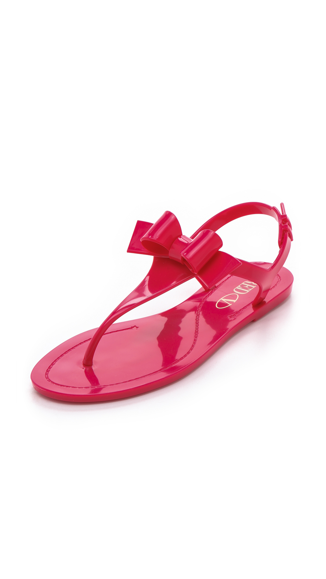 Lyst Red Valentino Bow Jelly Sandals In Pink