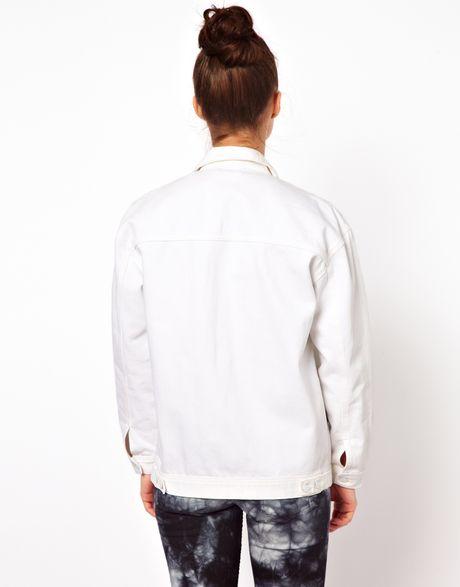 Won Hundred Jeans Josie Oversized Denim Jacket in White | Lyst
