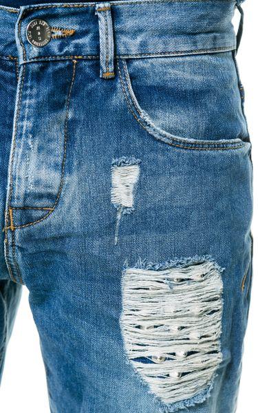 Zara Studded Jeans In Blue For Men Light Blue Lyst