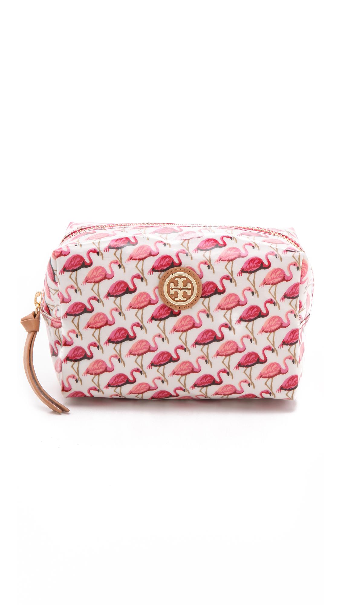 Lyst Tory Burch Brigitte Cosmetic Case Pink