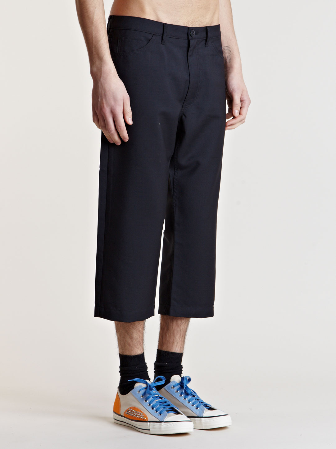 Comme Des Gar 231 Ons Mens Cropped Pants In Black For Men Lyst
