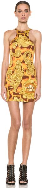 Jeremy Scott Racer Front Dress in Money Flourish - Lyst