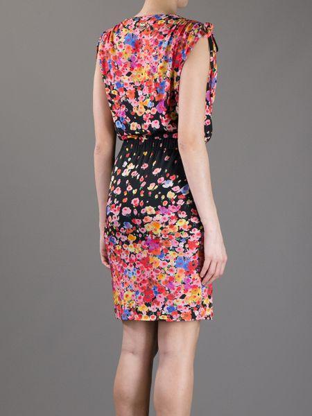 Blugirl Blumarine Sleeveless Floral Print Dress In