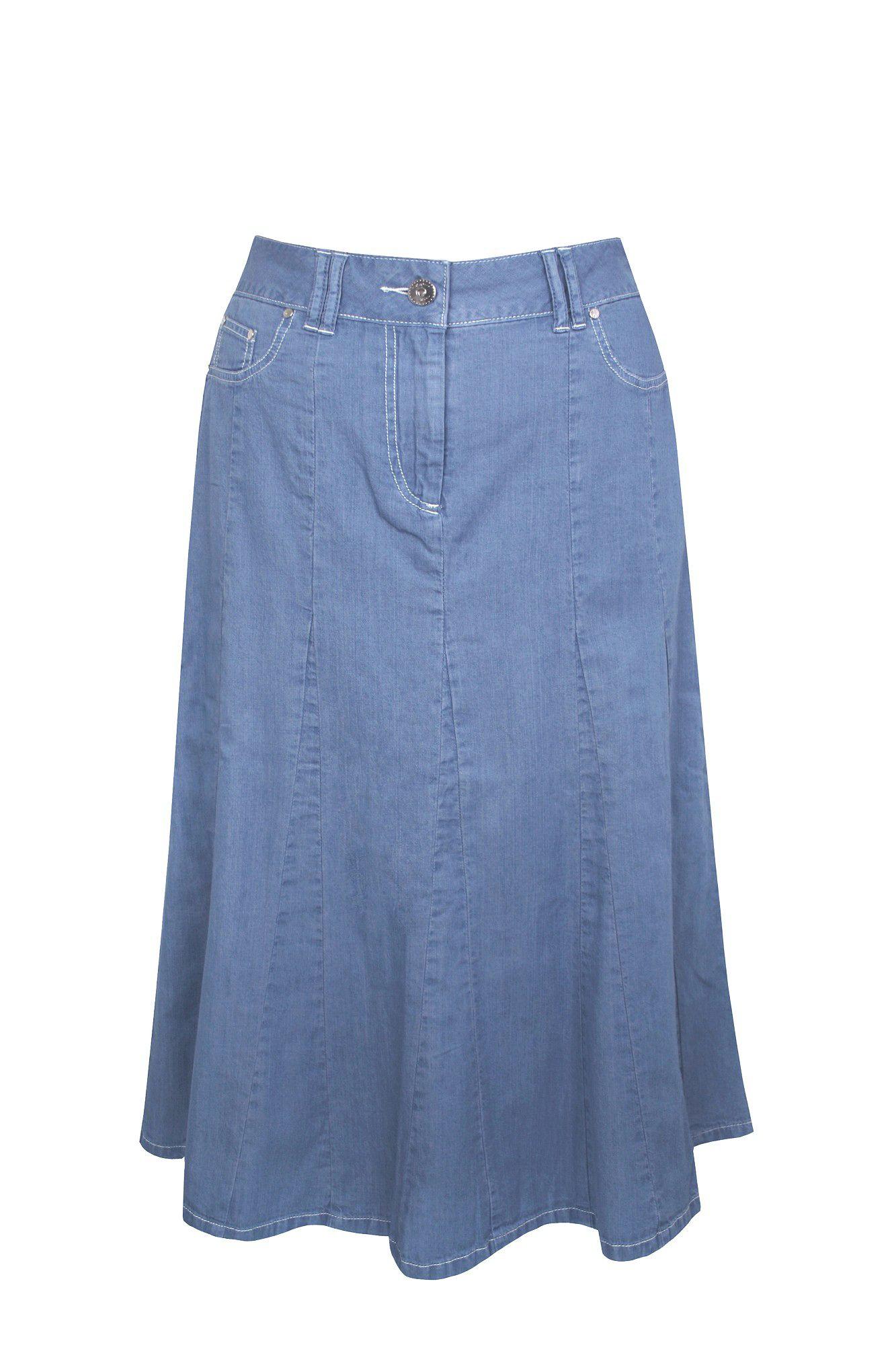 dash lightweight denim skirt in blue light blue lyst