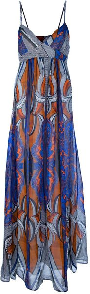 Dondup Printed Maxi Dress - Lyst