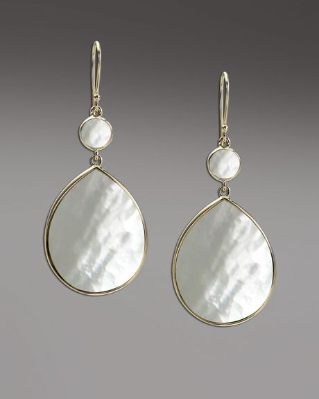 Ippolita Rock Candy Mother Of Pearl Earrings In White