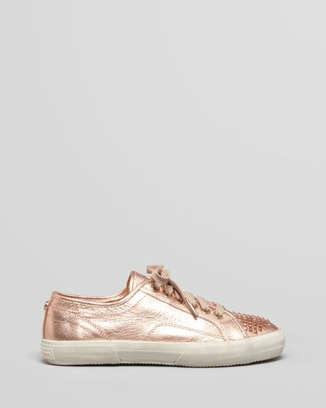 michael michael kors sneakers boerum studded in gold lyst. Black Bedroom Furniture Sets. Home Design Ideas