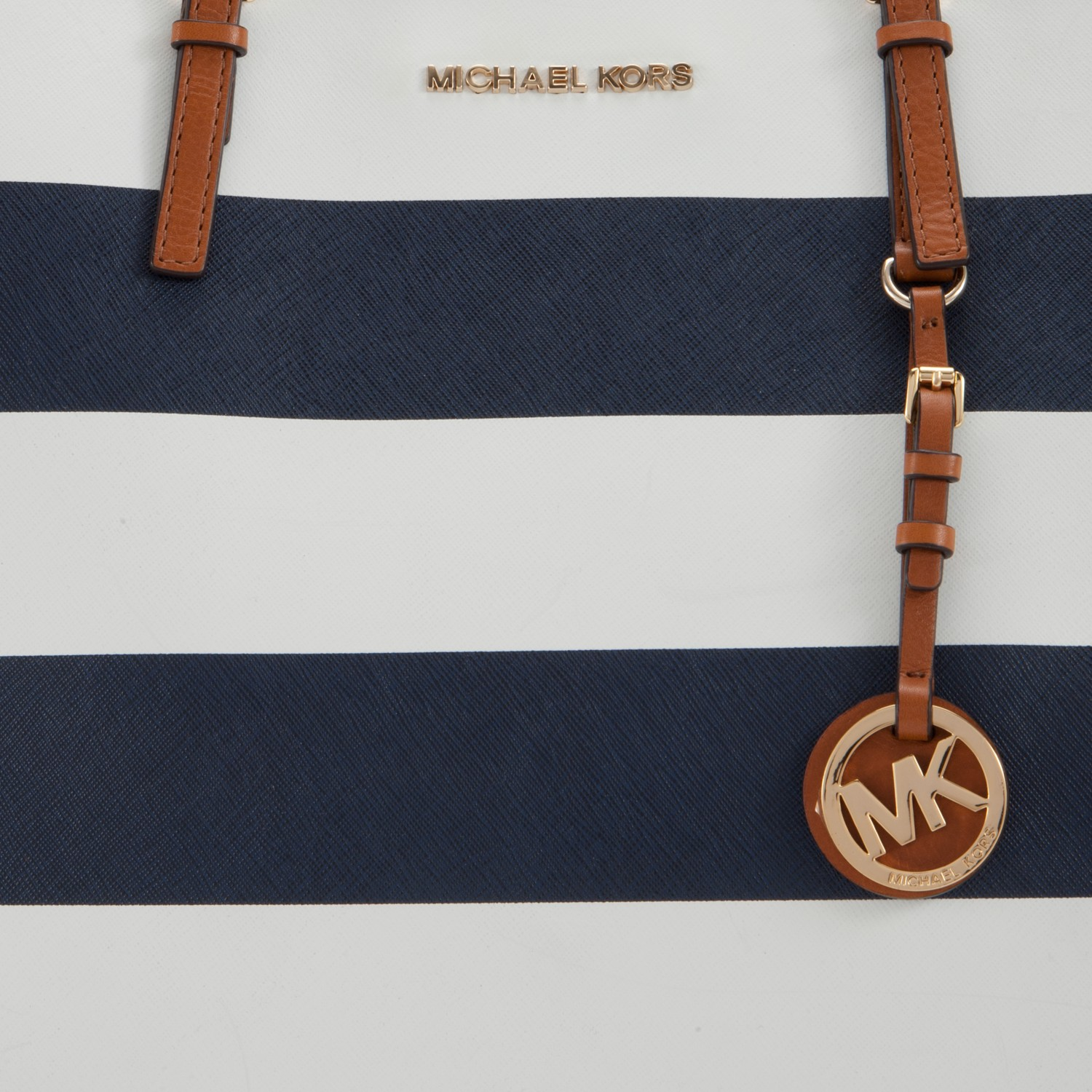 Navy Blue And White Striped Mk Purse Best Image Ccdbb