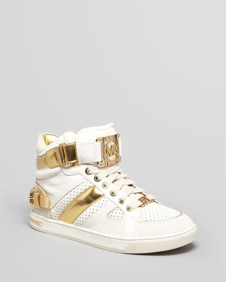 michael michael kors sneakers fulton high top in gold. Black Bedroom Furniture Sets. Home Design Ideas