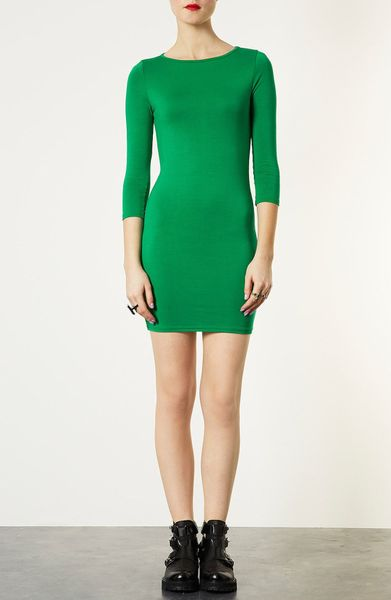 Topshop Bodycon Dress In Green Lyst