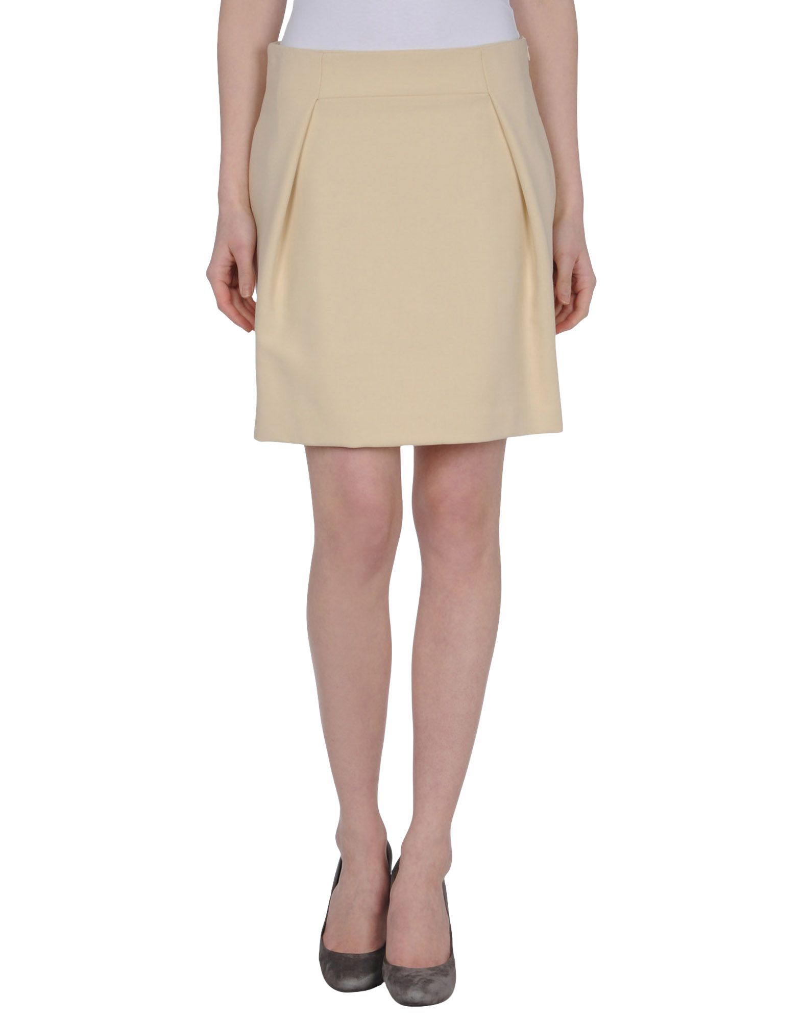 intropia knee length skirts in beige save 57 lyst