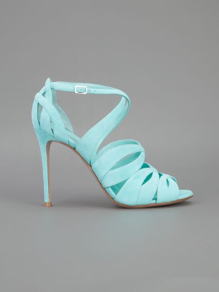Gianvito Rossi Strappy Sandal In Blue Turquoise Lyst