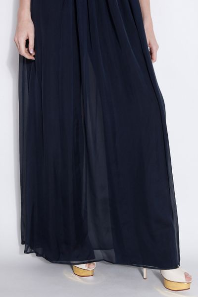 Cool Dkny Pure Front Skirt Overlay Pants In Black  Lyst