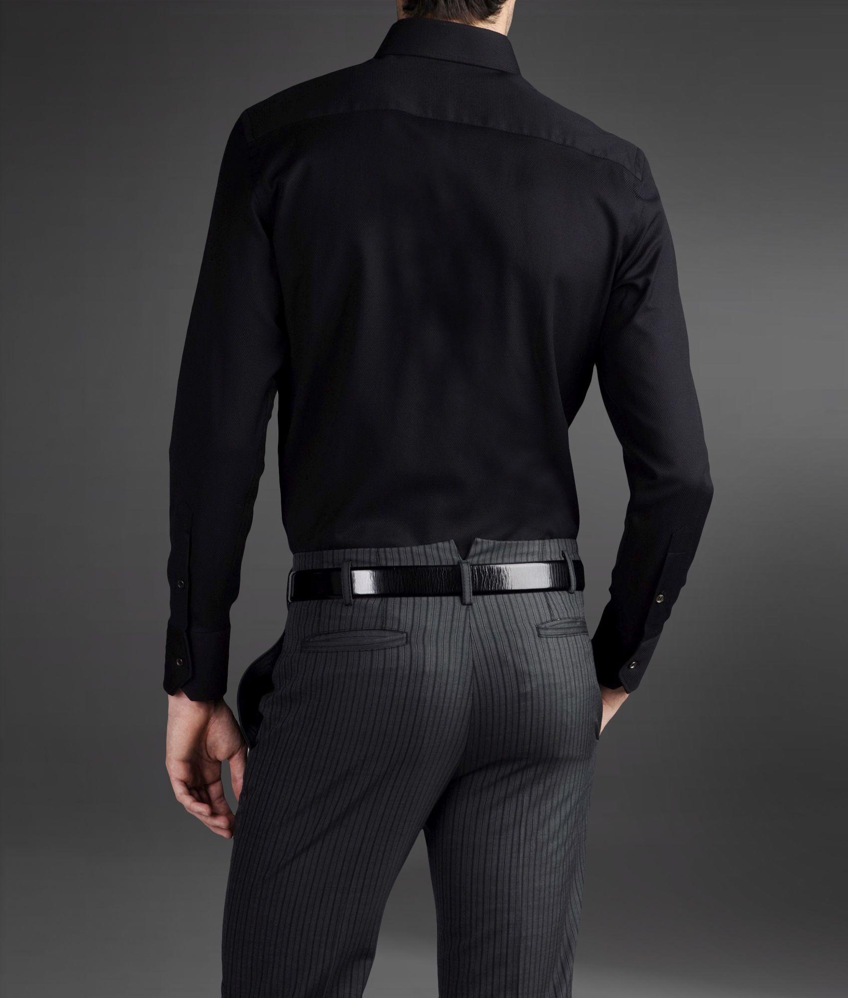 e01e45a6cff Armani Shirt Black Long Sleeve